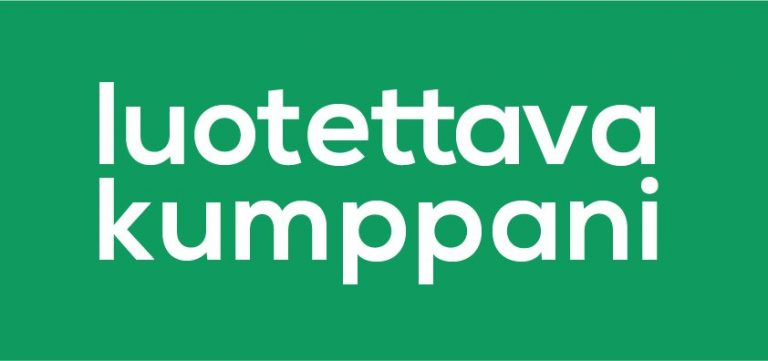 Vihreä luotettava kumppani logo