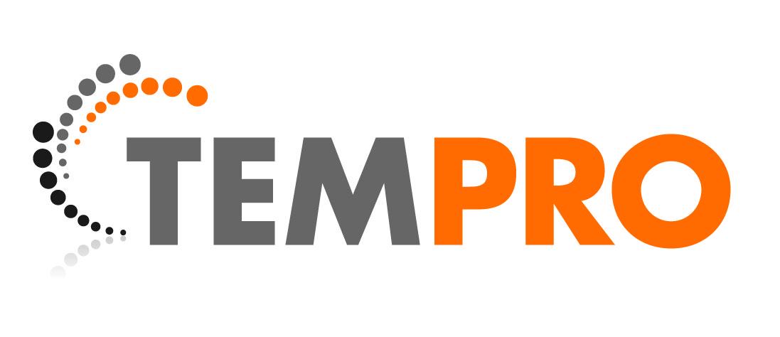 Tempro logo valkoisella taustalla
